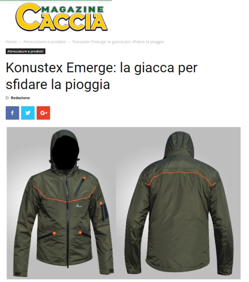 Konustex Emerge: la giacca per sfidare la pioggia