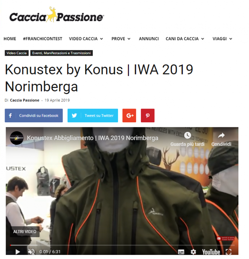 ABBIGLIAMENTO KONUSTEX - IWA 2019